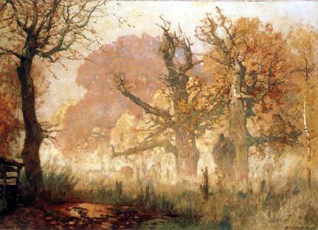 Eugen Bracht - Ein Herbstmorgen im Kranichsteiner Park