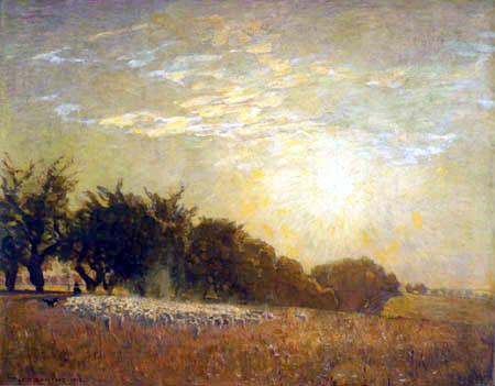 Eugen Bracht - L'ancienne avenue Cherry au Frohburg, Saxe
