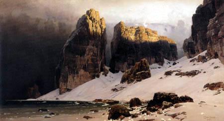 Eugen Bracht - The shore of the oblivion