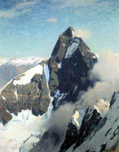 Eugen Bracht - Le Cervin de l'ouest