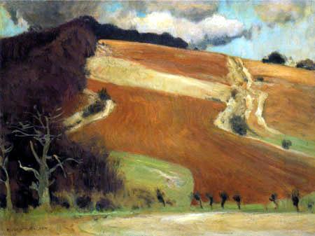 Eugen Bracht - The red field