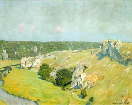 Eugen Bracht - The Cliffs at Eselsburg, Swabian Alb