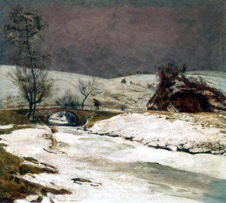 Eugen Bracht - The small stone bridge at Rochlitz