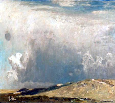 Eugen Bracht - Dünenlandschaft im Regen