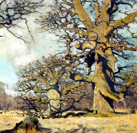 Eugen Bracht - Oak Trees