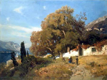Eugen Bracht - Ein Herbsttag am Lago Maggiore