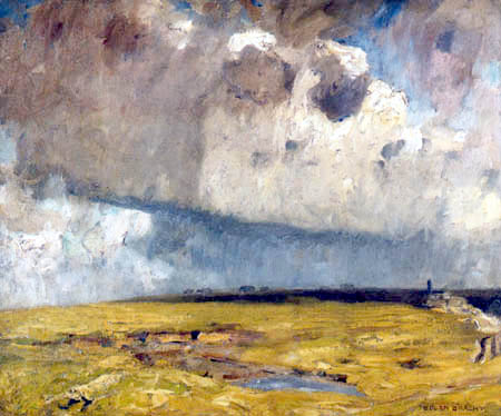 Eugen Bracht - Thunderstorm over the heath