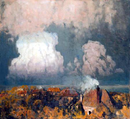 Eugen Bracht - Gewitterwolken über dem Meer, Sylt