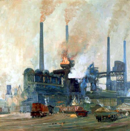 Eugen Bracht - Les hauts fourneaux de l'aciérie de Hoesch, Dortmund
