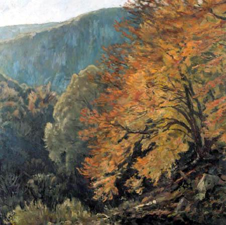 Eugen Bracht - Paysage de l'Odenwald