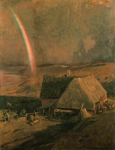 Eugen Bracht - Regenbogen am Abend