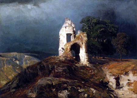 Eugen Bracht - Romantische Landschaft