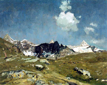 Eugen Bracht - Montagnes près de Zermatt
