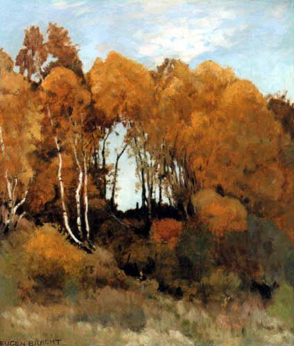 Eugen Bracht - Birch Landscape in Mecklenburg