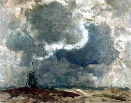 Eugen Bracht - Windmühle im Hümmling, Emsland