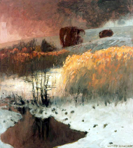 Eugen Bracht - Noche de invierno