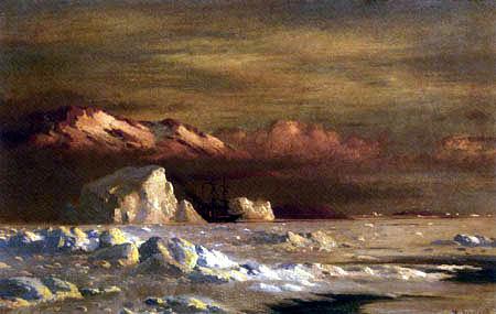 William Bradford - Schiff und Eisberge