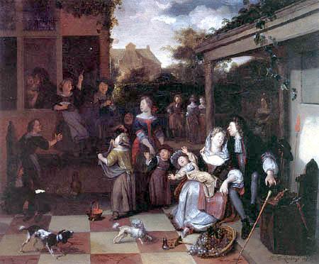 Richard Brakenburgh - A Family on a Terrace