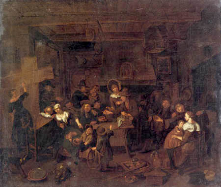 Richard Brakenburgh - The Seller in the Peasant Tavern