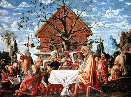 Bramatino (Bartolommeo Suardi) - The visit of Jupiter and Mercury by Philemon and Baucis