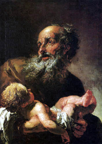 Peter Johann Brandl - Simeon with the Infant Jesus