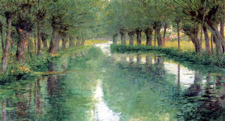 John Leslie Breck - The riverbank of the Epte