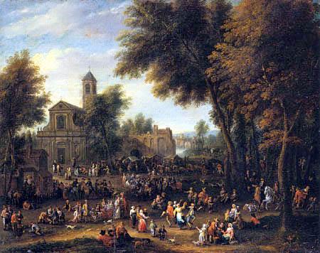 Peeter van Bredael - Folk Festival in a Marketplace