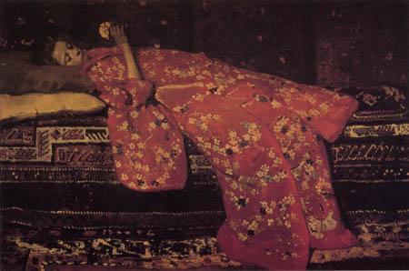 Georg H. Breitner - Girl in a red Kimono