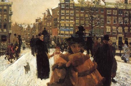 Georg H. Breitner - Paleisstraat Amsterdam
