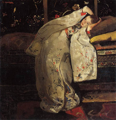Georg H. Breitner - Young Woman in the Kimono