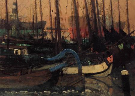 Georg H. Breitner - Im Hafen Amsterdam