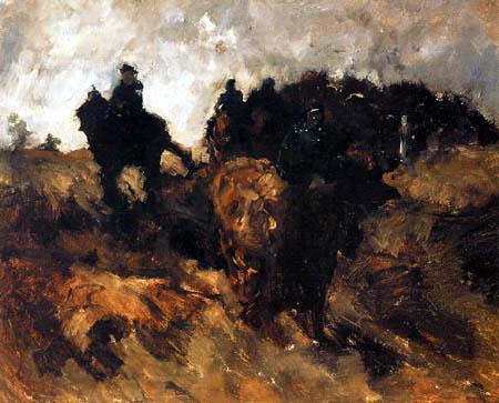 Georg H. Breitner - Kavalleristen in den Dünen