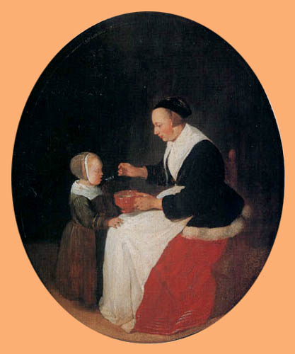 Gerritsz. Van Brekelenkam - Mother and child