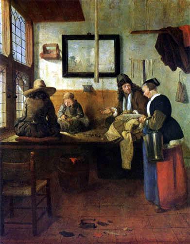 Gerritsz. Van Brekelenkam - The tailor's workroom
