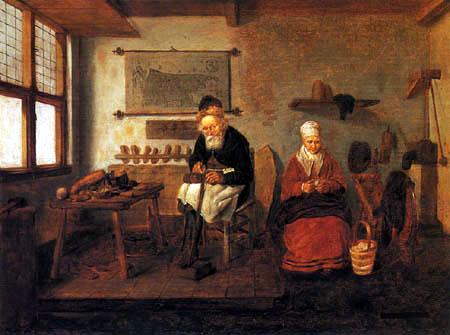 Gerritsz. Van Brekelenkam - A Cobbler in his Workshop