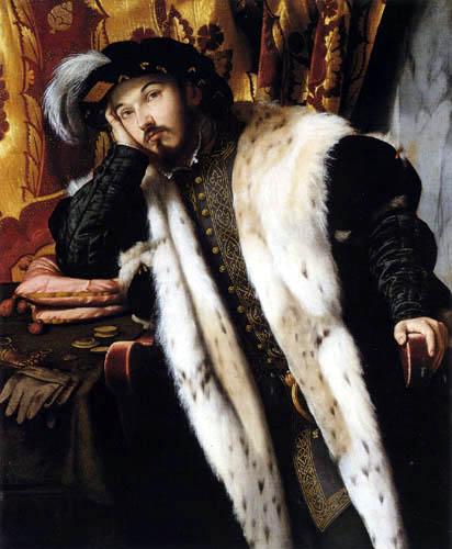 Moretto da Brescia (Alessandro Bonvicino) - Portrait d'un jeune homme