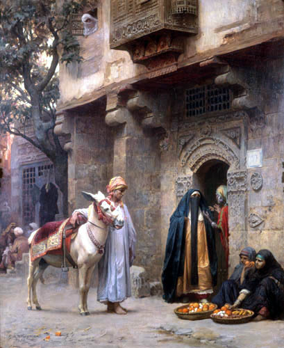 Frederick Arthur Bridgman - The Street of Cairo