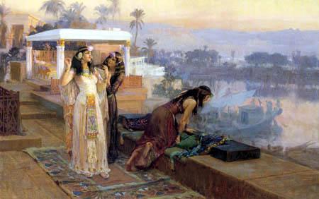 Frederick Arthur Bridgman - Cleopatra on the terraces of Philae