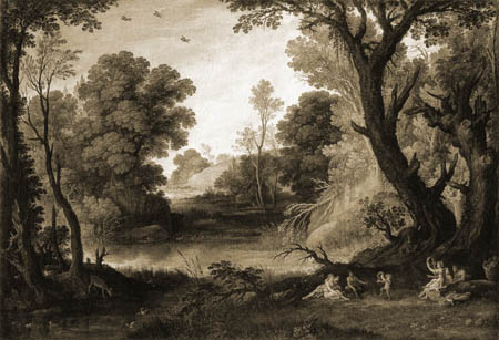 Paul Bril(l) - Wooded Landscape with Nymphs and Satyrs