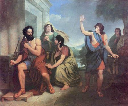 Antoni Brodowski - Saul's anger at David