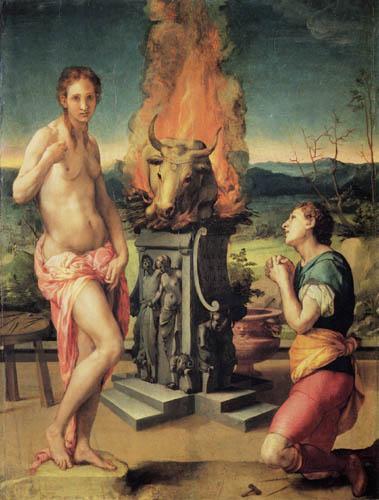 Il (Agnolo) Bronzino - Pygmalion und Galathea