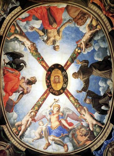 Il (Agnolo) Bronzino - Deckengewölbe der Kapelle der Eleonora, Toledo