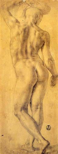 Il (Agnolo) Bronzino - Aktstudie