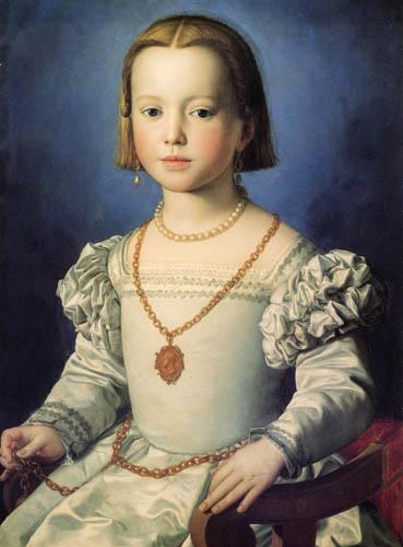 Il (Agnolo) Bronzino - Bildnis der Bia de Medici