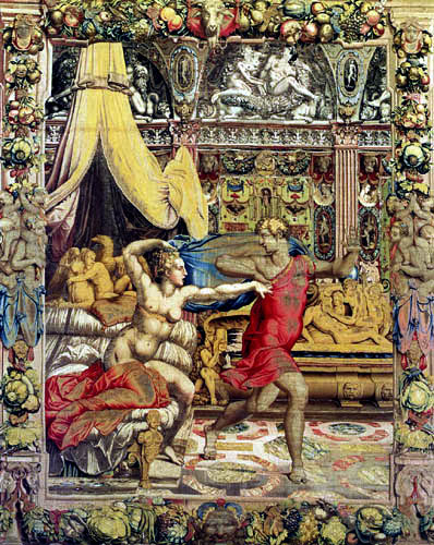 Il (Agnolo) Bronzino - Joseph flieht vor Putiphars Frau