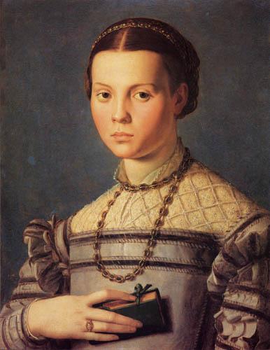 Il (Agnolo) Bronzino - Mädchen mit Gebetbuch