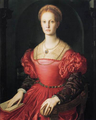 Il (Agnolo) Bronzino - Bildnis der Lucretia Panciatichi