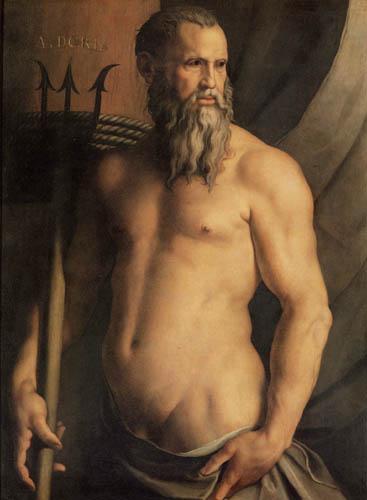 Il (Agnolo) Bronzino - Portrait of Andrea Doria as Neptun