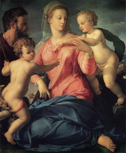 Il (Agnolo) Bronzino - Die heilige Familie Stroganoff
