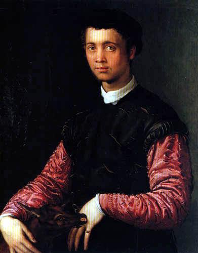 Il (Agnolo) Bronzino - Bildnis eines jungen Mannes